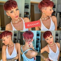 Colored short haircuts Best Picture For edgy hair 2019 For Your Taste You are looking for something, Edgy Short Hair, Short Hair Undercut, Short Layered Haircuts, Edgy Hair, Short Hair Cuts For Women, Short Hairstyles For Women, Short Hair Styles, Super Short Hair, Edgy Pixie Hairstyles