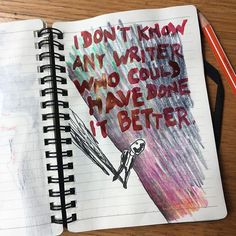 I dont know any writer who could have done it better. - - - -  #advice #coloredsky #sky #michaellilin #drawing #hood #man #shadows #art #coloredpencil #ink #contemporary #standing #notebook