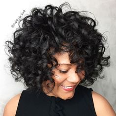More click [.] Stylist Naturally Curly Haircut Ideas Must Try Ideas That Voluminous Naturally Curly Bob Hairstyle 60 Most Delightful Short Wavy Hairstyles Short Wavy Hair, Curly Hair Cuts, Curly Bob Hairstyles, Long Curly, Curly Hair Styles, Natural Hair Styles, Wedding Hairstyles, Bob Haircuts, Black Hairstyles