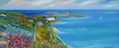 """Dalkey Island From Killiney Hill"" by Nuala Holloway - Oil on Canvas #Killiney #Dublin #Dalkey"