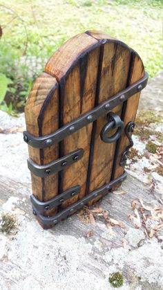 hobbit door by tinkerforge on Etsy Fairy Tree Houses, Fairy Garden Houses, Fairy Gardens, Garden Art, Garden Design, Bois Diy, Selling Handmade Items, Blacksmith Projects, Gnome House