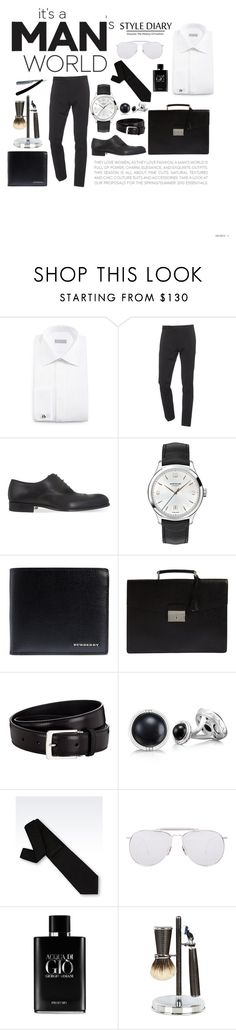 """Untitled #329"" by charlottedegasse ❤ liked on Polyvore featuring Stefano Ricci, Dsquared2, Tom Ford, Montblanc, Burberry, Prada, Tacori, Giorgio Armani, Thom Browne and Cedes"