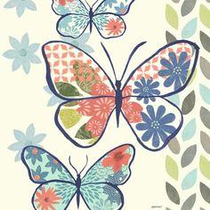 Fresh Butterfly-Blue by Jennifer Brinley | Ruth Levison Design