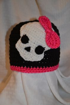 Monster High crochet hat by AJstitching on Etsy, $20.00
