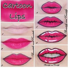 Cartoon lips