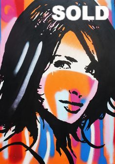 White Stripes - SOLD by McDonald | PLATFORMstore. Acrylic and Enamel on Canvas