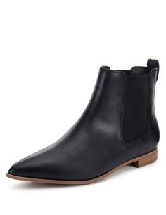 e475abc961f Faux Leather Flat Chelsea Boots with Insolia Flex®