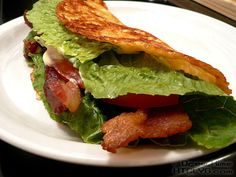 This is amazing! Zero carb BLT ... on fried cheese | Willpower Is For Fat People