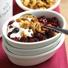 Make this Mixed Berry Crumble in your slow cooker! bhg.com