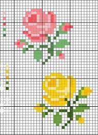 Resultado de imagen para easy flower cross stitch patterns