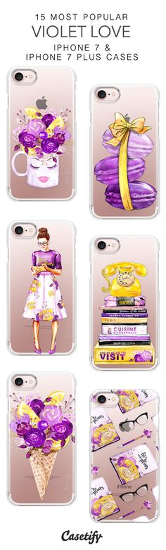 15 Most Popular Violet Love Protective iPhone 7 Cases and iPhone 7 Plus Cases. More Purple iPhone case here > https://www.casetify.com/collections/top_100_designs#/?vc=jfrBYFXcHY