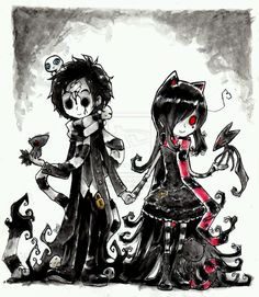 xDDD Some time ago with *pyromaniac we were talking about our old emo phases and wondered what would happen if we got them t. Darkness of Love xD - COLLAB Pretty Art, Cute Art, Emo Cartoons, Emo Wallpaper, Emo Princess, Emo Art, Dark Love, Bizarre Art, Gothic Anime