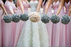 #silver and #pink | Wedding Wednesday: Pretty in Pink and Silver | Beautiful Blooms