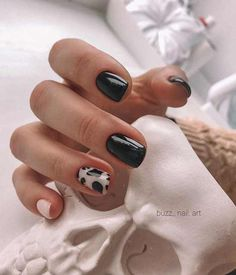Frensh Nails, Cow Nails, Nail Manicure, Swag Nails, Hair And Nails, Gel Nail, Edgy Nails, Cheetah Nails, Nail Polish