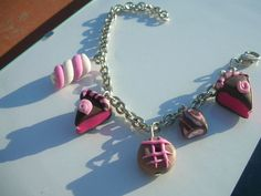 CHARMS DOLCI :  fatto a mano in argilla polimerica (FIMO) - hand made polymer clay  sweet bracelet