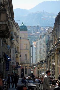 Cafes and Hills in Sarajevo
