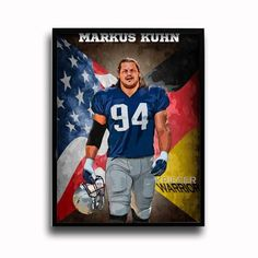 New England Patriots Markus Kuhn Warrior 24x18 Football Poster