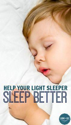 7 Ways to help your light sleeper sleep better and stay asleep longer. Create a peaceful bedtime routine to help your light sleeper sleep better.