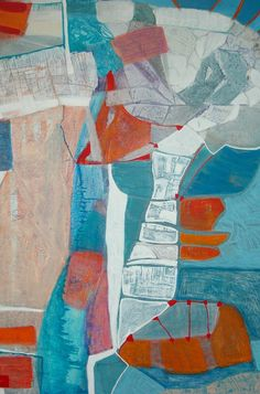 End of the road, schilderij van Atelier Jeannette Mommers, Jeannette Mommers   Abstract   Modern   Kunst