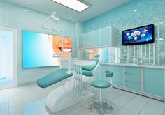 Dental Office Decor, Medical Office Design, Clinic Interior Design, Clinic Design, Dentist Clinic, Dental Design, Dental Logo, Hospital Design, Treatment Rooms