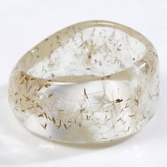 Bracelet, resin, dandelion