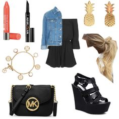 Untitled #153 by fashionxstuff on Polyvore featuring polyvore moda style Topshop Steve Madden MICHAEL Michael Kors Tory Burch Vinca Benefit Bourjois