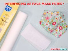 Interfacing as Face Mask Filter Material: What to Use, What to Avoid - Common Household Materials that may be used as a filter, along with research into effectiveness and breathability Easy Face Masks, Homemade Face Masks, Diy Face Mask, What To Use, How To Make, Interfacing Fabric, Diy Mask, Mask Design, Mask Making