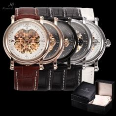 KS Royal Carving Hot Deals Clover Men Skeleton Mechanical Watch With Luxury Box