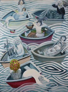 Six boats - Cate Edwards