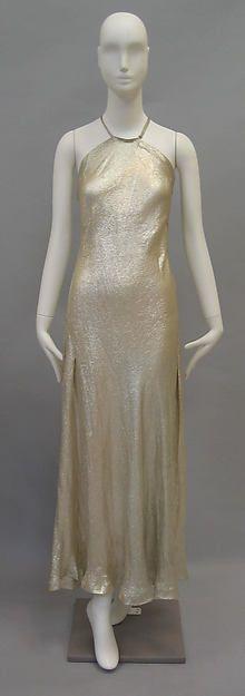 Evening dress Designer: Madeleine Vionnet (French, Chilleurs-aux-Bois 1876–1975 Paris) Date: ca. 1936