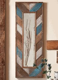 Distressed Arrow Wood Wall Mirror - OVERSTOCK