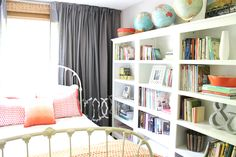 bookcases in small room
