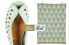 ...wear this pair of Topshop flats, decorate with that Ferm Living tea towel... —Bekka