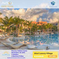El Alsol Luxury Village. Conoce este hermosa hotel localizado dentro de Cap Cana. Aquí puede disfrutar de un servicio de alto nivel - cuatro restaurantes temáticos, cinco bares, cuatro piscinas, una capilla de piedra de estilo dominicano para bodas, un moderno gimnasio, etc.