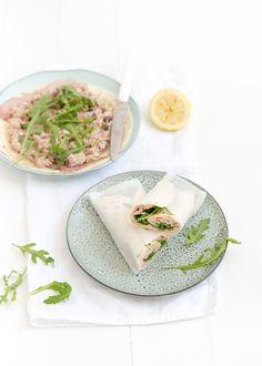 Briljant idee, een Vitello Tonnato wrap met kalfsfricandeau en tonijnsalade.