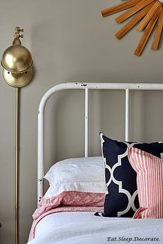Eat. Sleep. Decorate.: Our {Guest Room} Updates (Beautiful Sconces!)