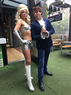 When I dressed up as a silver fembot from Austin powers. I love beauty so much! Austin Powers Girls, Austin Powers Costume, Power Girl, I Dress, Halloween Costumes, Silver, Beauty, Style, Fashion