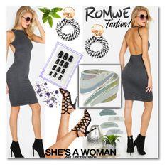 """Romwe 6"" by crvenamalina ❤ liked on Polyvore"