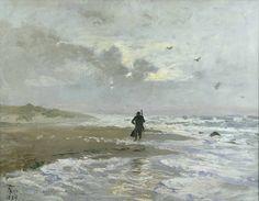 """Beach Party"" 1889  Simeon Thorvald Niss (1842-1905)"