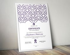 Islamic certificate template (docx) by Inkpower on @creativework247
