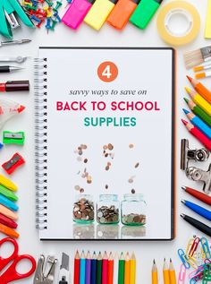 4 Ways To Save Money On Back To School Supplies via @sheenatatum