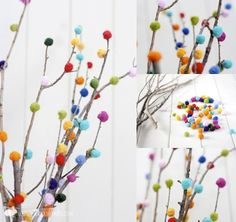 20 Fuzzy & Fun Pom-Pom Crafts - diycandy.com