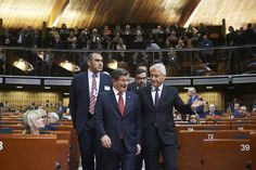 https://flic.kr/p/GiW4KX | Session of the Parliamentary Assembly, January 2016 | Ahmet DAVUTOĞLU, Prime Minister of Turkey and Thorbjørn Jagland, Secretary General of the Council of Europe  Photo : Sandro Weltin/©Council of Europe