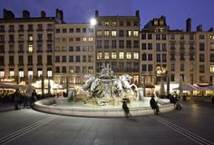 La Fontaine Bartholdi in Lyon, France: Bartholdi Fountain was completed in 1888.  Frédéric Bartholdi (1834-1904) also made the Statue of Liberty in New York and the Lion of Belfort. http://www.lyon-france.com/Que-faire/Culture-loisirs/Sites-monuments-historiques/Monuments-historiques/La-Fontaine-Bartholdi http://www.en.lyon-france.com/ https://www.youtube.com/user/LyonTourisme