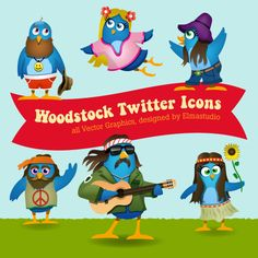 Woodstock Twitter Icons 100 Communications Templates, #Twitter and Social Media Icons  Read more: http://www.webdesign.org/photoshop/articles/100-communications-templates-twitter-and-social-media-icons.19462.html