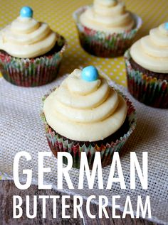 German buttercream isn't the most popular buttercream out there, but with its creamy texture and rich flavor, we're not sure why more bakers aren't using it!