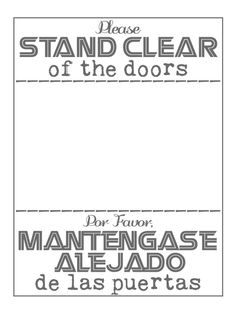 """Stand clear of the doors - Monorail - Project Life Disney Journal Card - Scrapbooking. ~~~~~~~~~ Size: 3x4"""" @ 300 dpi. This card is **Personal use only - NOT for sale/resale** Logos/clipart belong to Disney. Fonts are Odstemplik http://www.dafont.com/odstemplik.font, Battlestar http://www.dafont.com/battlestar.font and Kingthings Trypewriter http://www.dafont.com/kingthings-trypewriter.font"""
