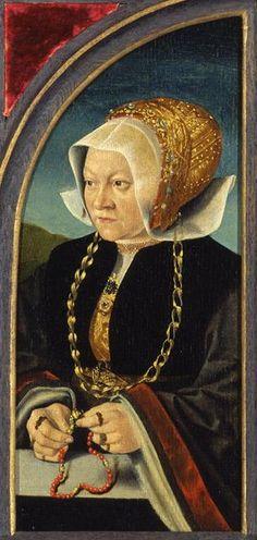 Portrait of Sibilla Kessel, c. 1540, Barthel Bruyn the Elder, Cologne