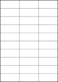 EU30040- 70mm x 29.7mm Blank Label Template