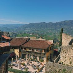 The view from the Upper Castle in Marostica, Italy.
